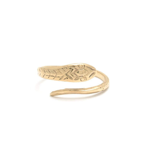 Snake Yellow Gold Wrap Ring