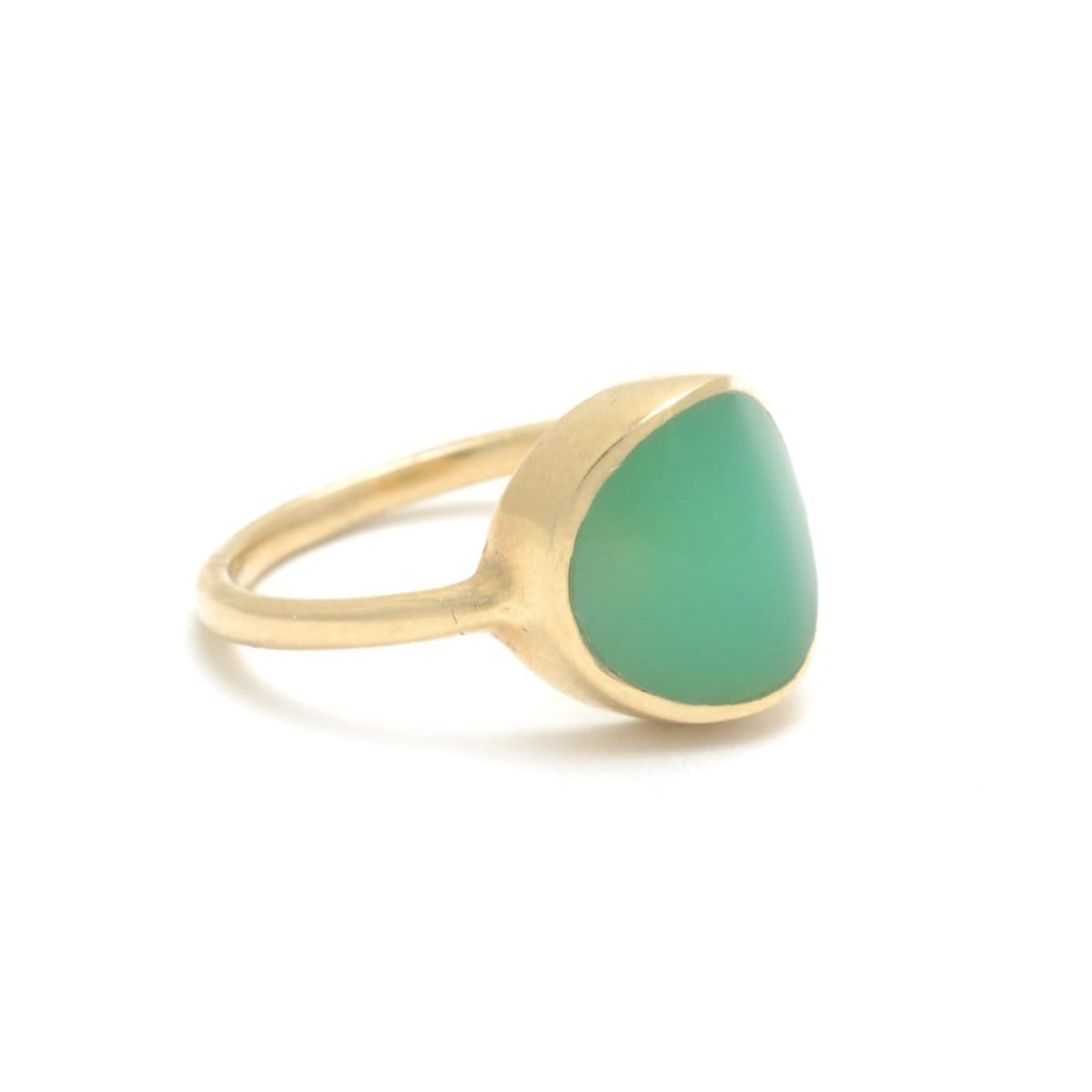 Chrysoprase Signet Ring