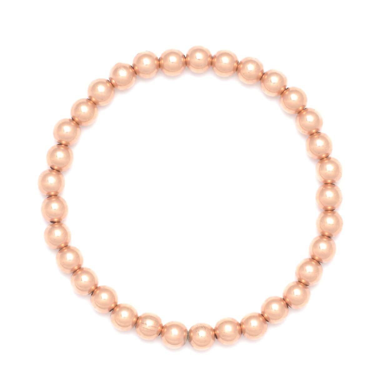 Karen Lazar Rose Gold Stretchy Beaded Bracelet (5mm)