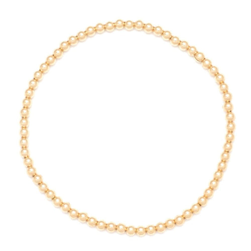 3mm Round Gold Bead Layering Bracelet