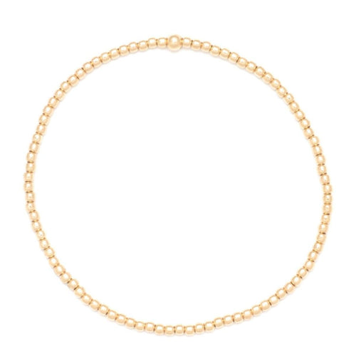 2mm Yellow Gold Bead Bracelet