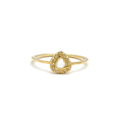 Pave Rose Cut Diamond Ring