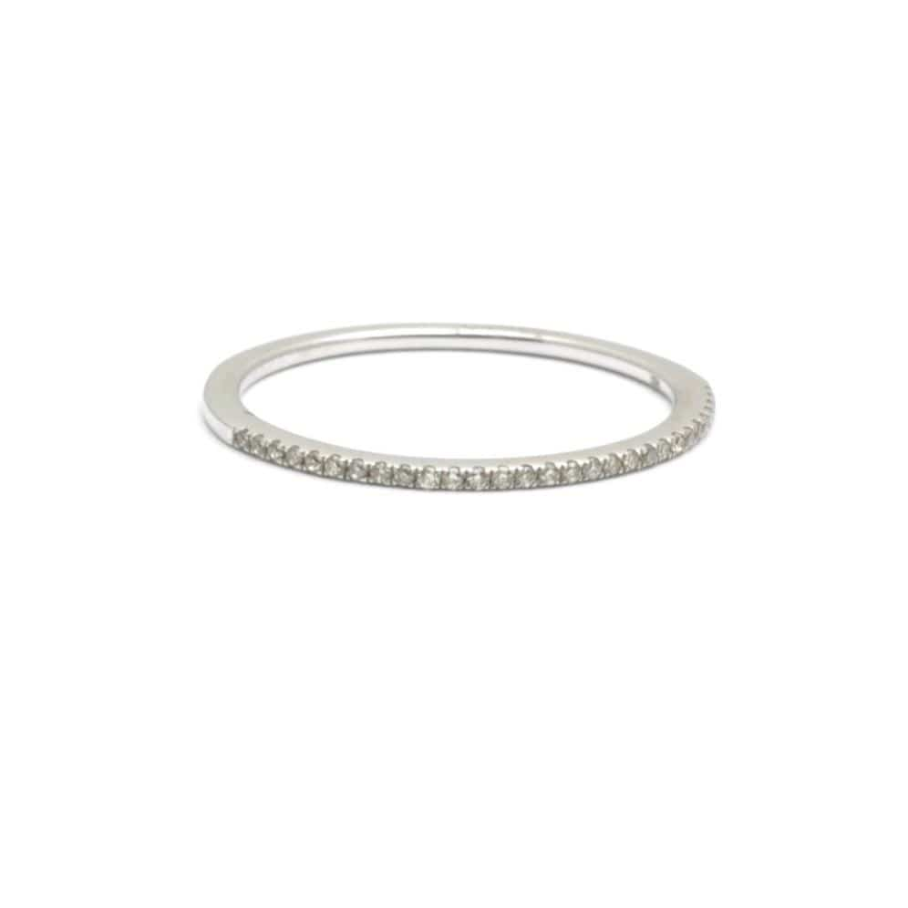 micro pave diamond half eternity band
