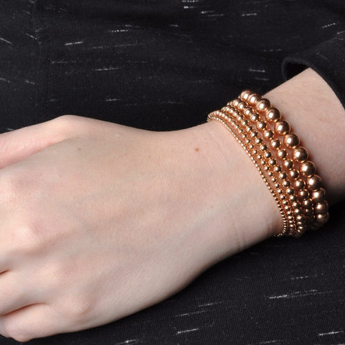 4mm Rose Gold Round Bead Bracelet