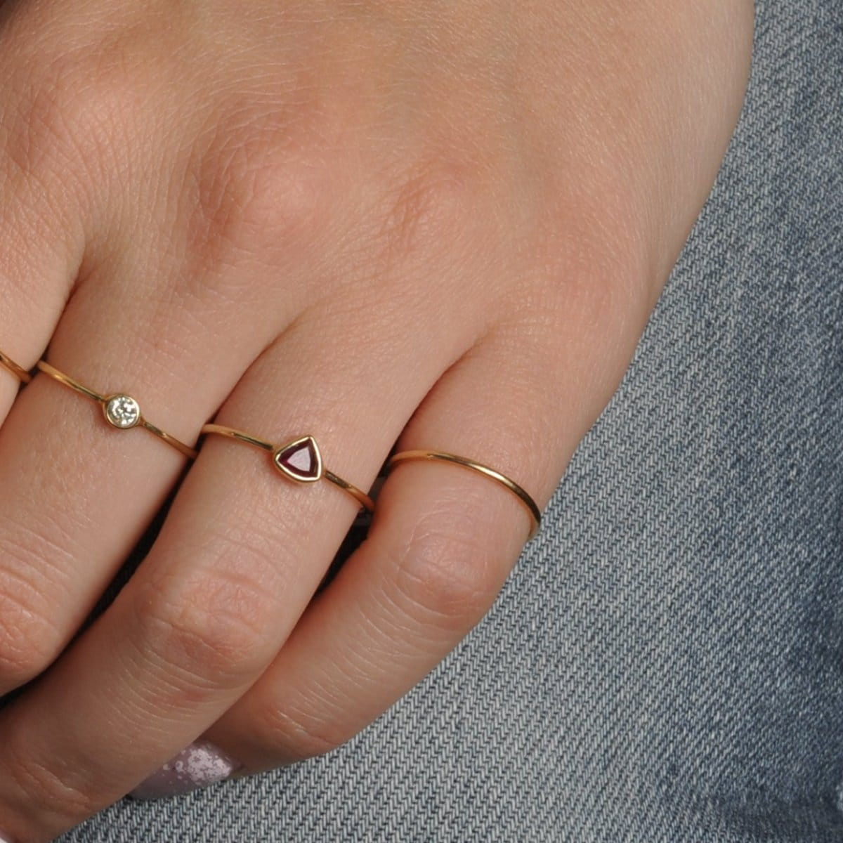 Narrow Yellow Gold Ring Caitlin Nicole