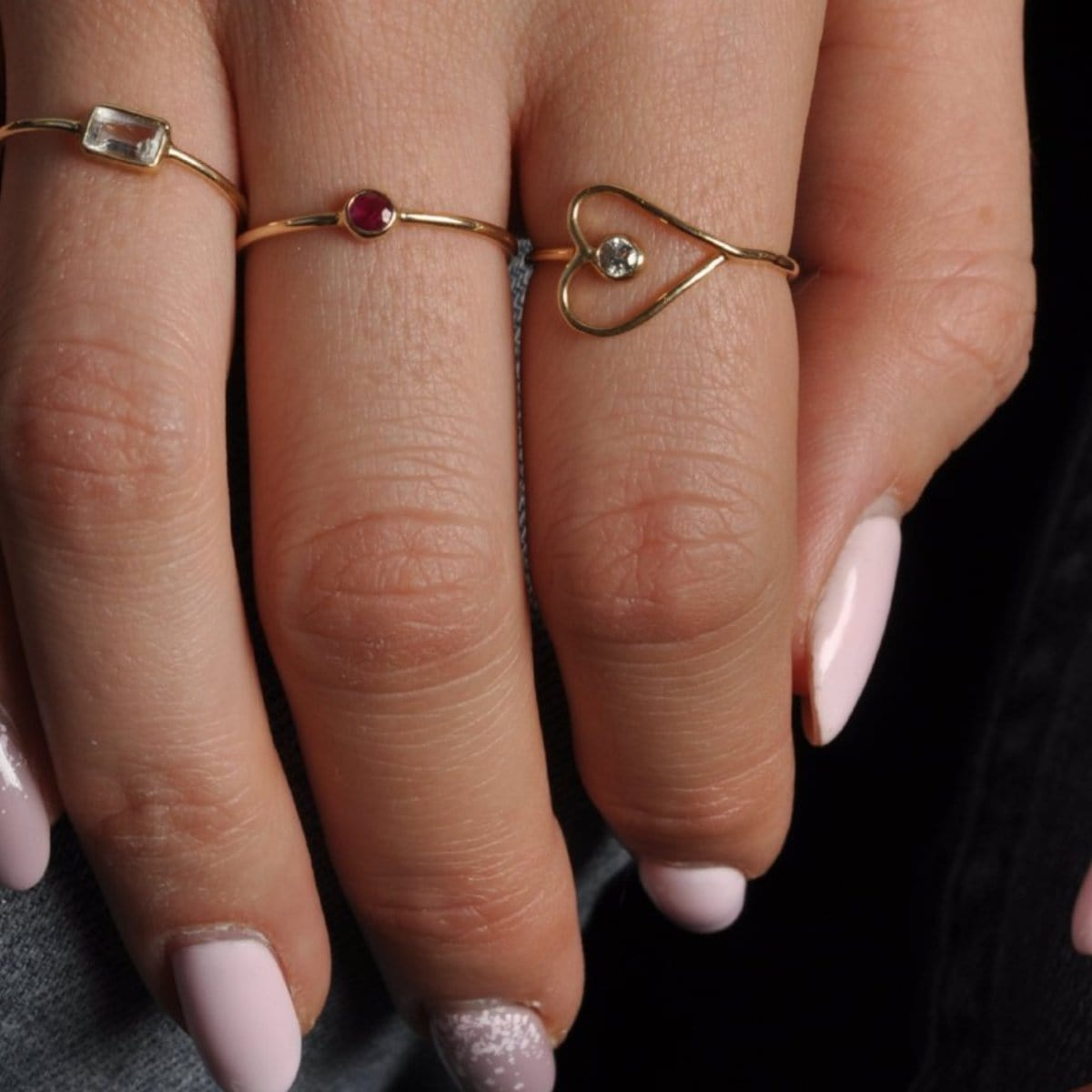Diamond Sideways Yellow Gold Heart Ring Promise Ring Caitlin Nicole
