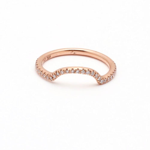 Rose Gold Pave Diamond Stacking RIng