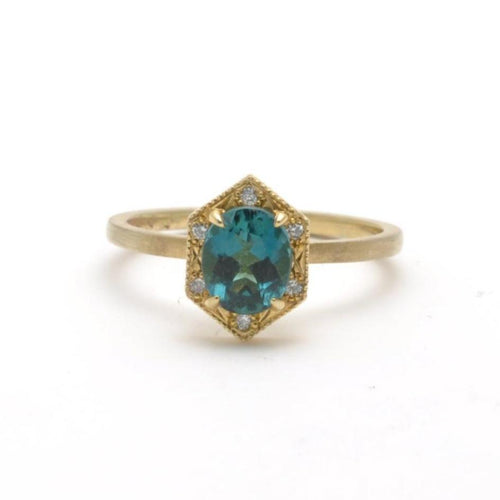 tourmaline indicolite cocktail ring