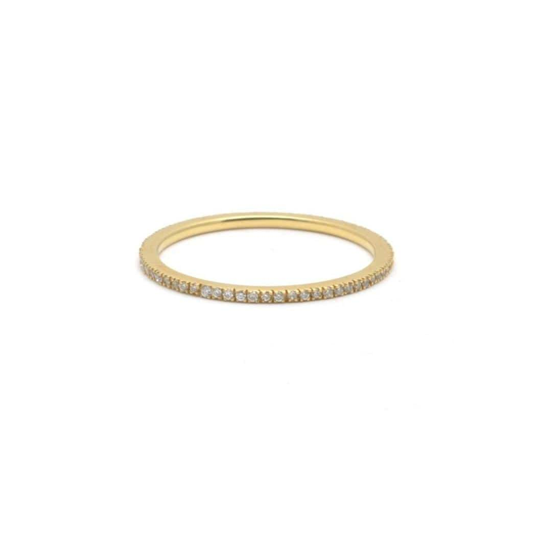 mico pave scallop set wedding band