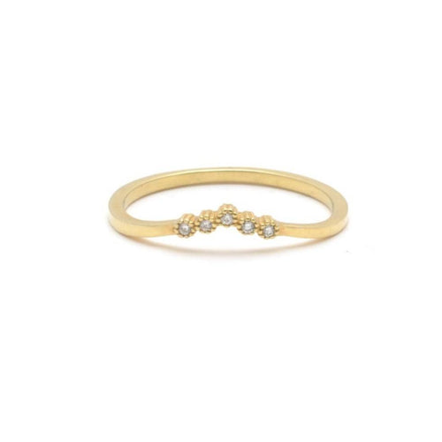 Suneera diamond v shape ring