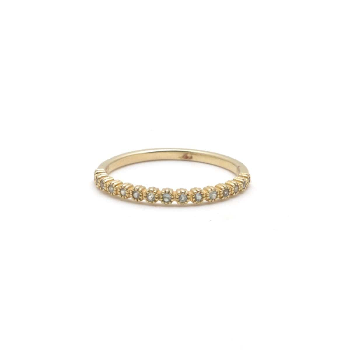 Light Green Sapphire Stacking Gold Ring