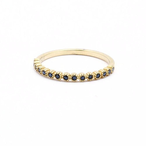 suneera blue sapphire stacking ring