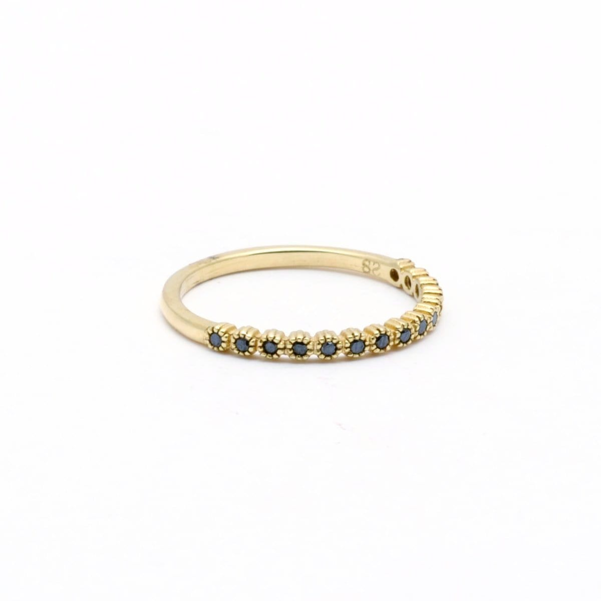 Blue sapphire gold stacking ring