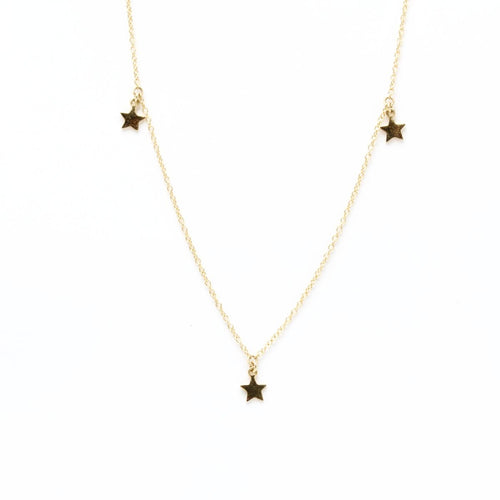 Three Star Charm Necklace