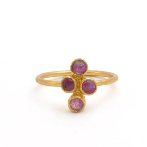 Four Circle Ruby Ring