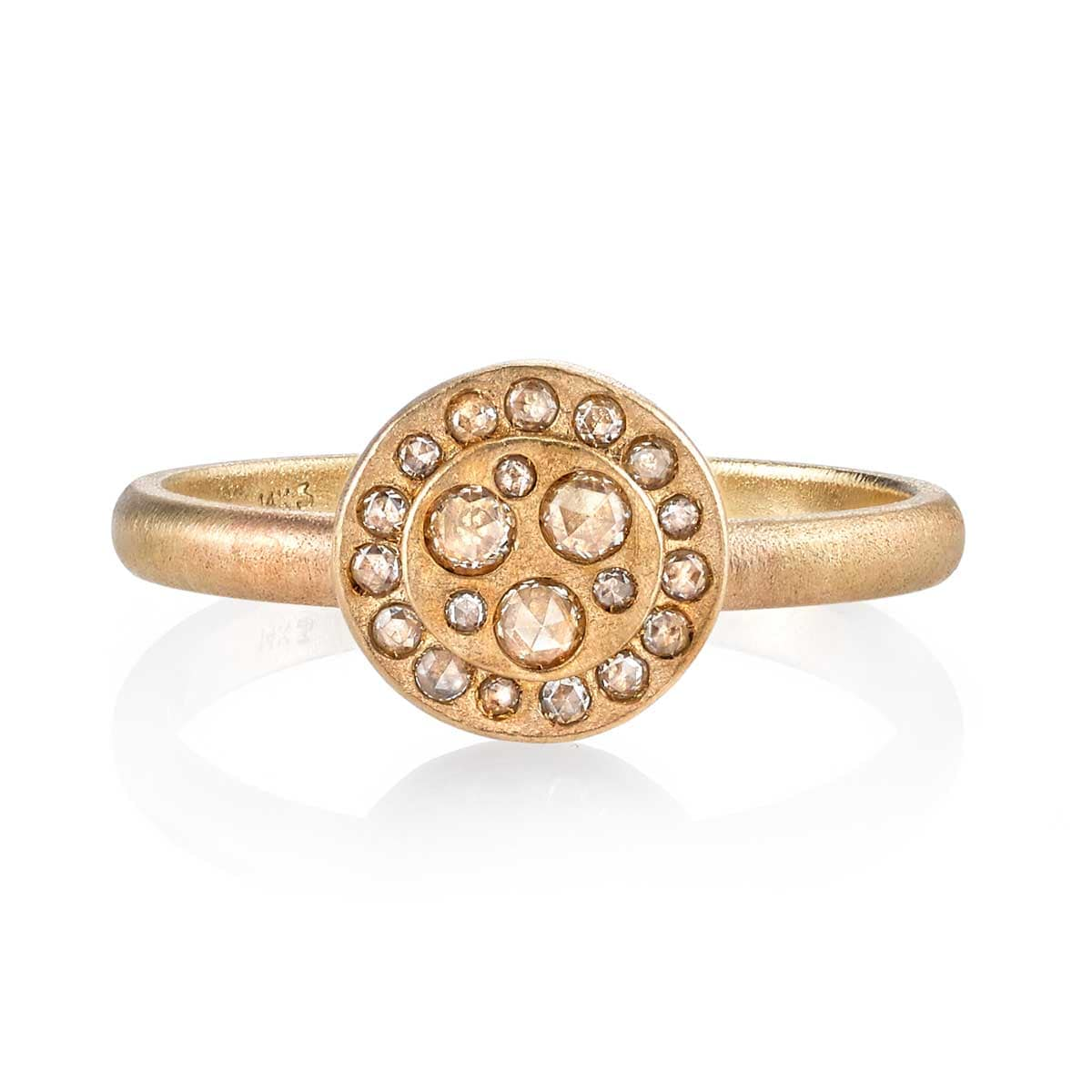 Diamond Sky Rosecut Matte Yellow Gold Ring