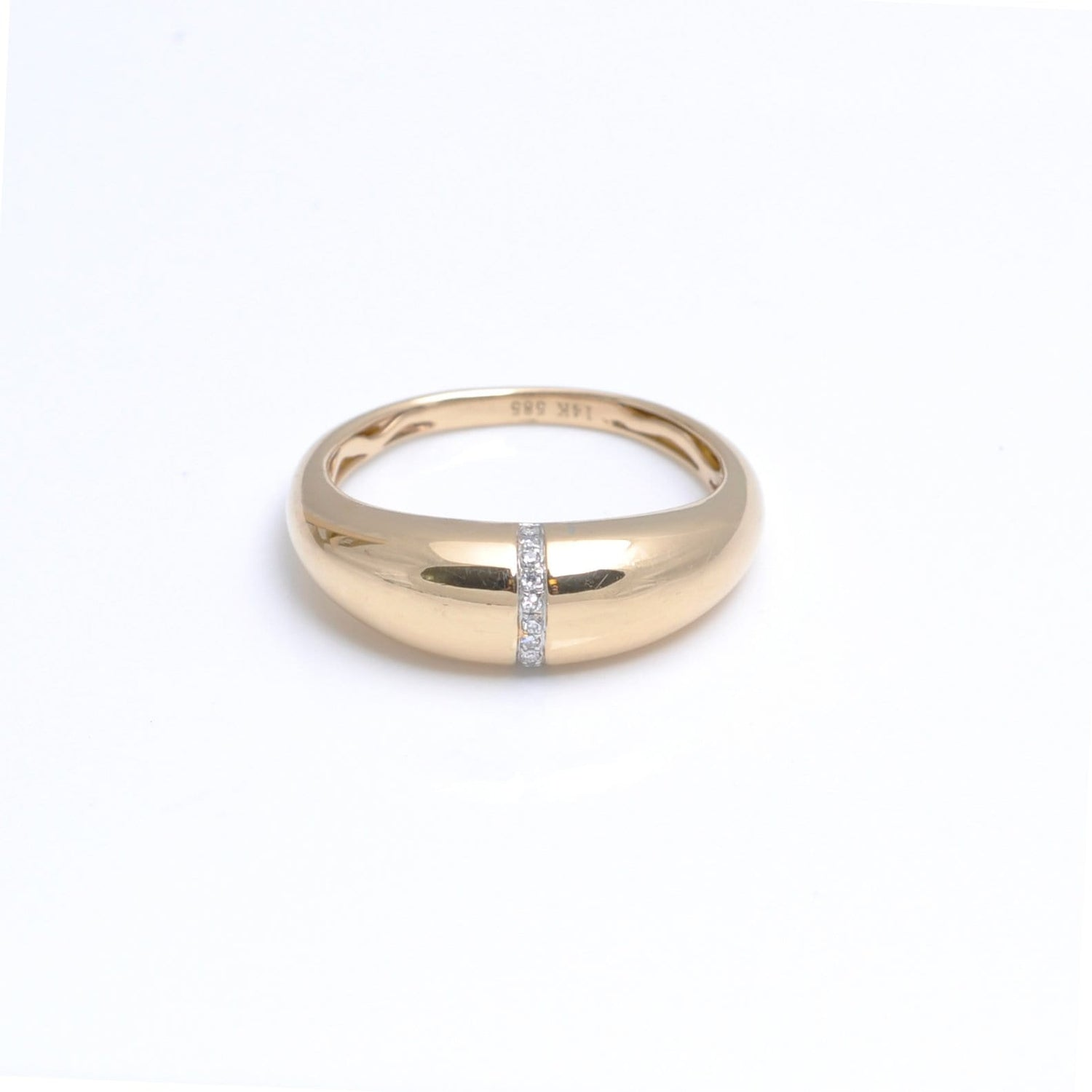 Gold Dome Diamond Ring
