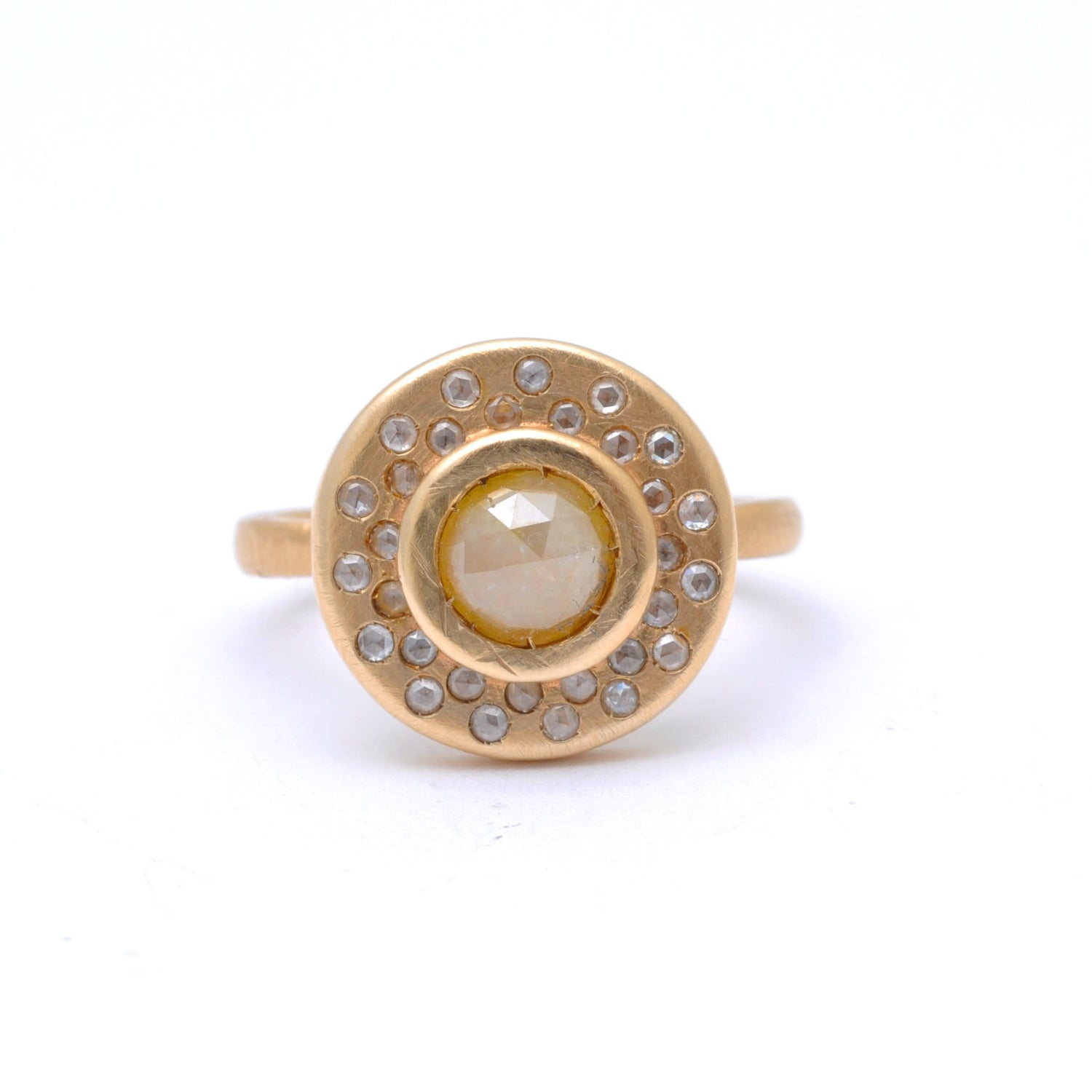 Rustic Diamond Matte Gold Night Sky Ring Santi Rom