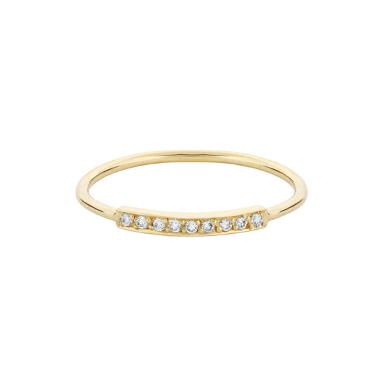 Diamond Stacking Band Yellow Gold Ring