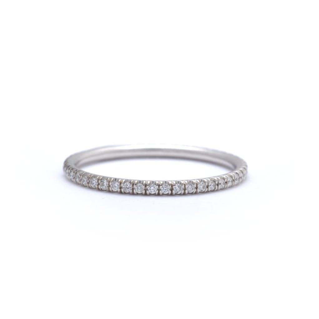 Pave Diamond White Gold Eternity Ring - Curated Los Angeles