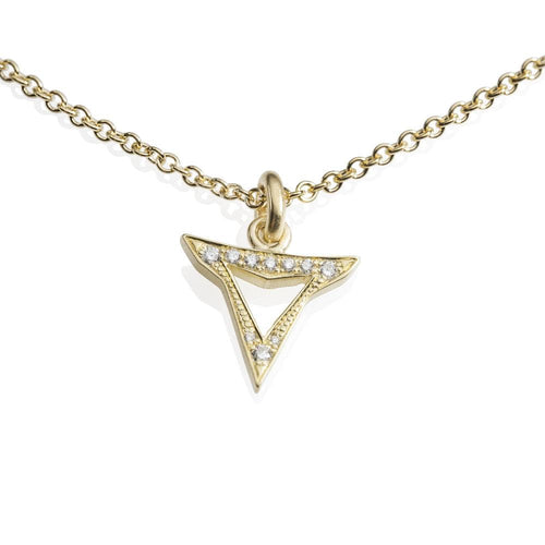 Diamond Encrusted Shark Tooth Pendant - Curated Los Angeles