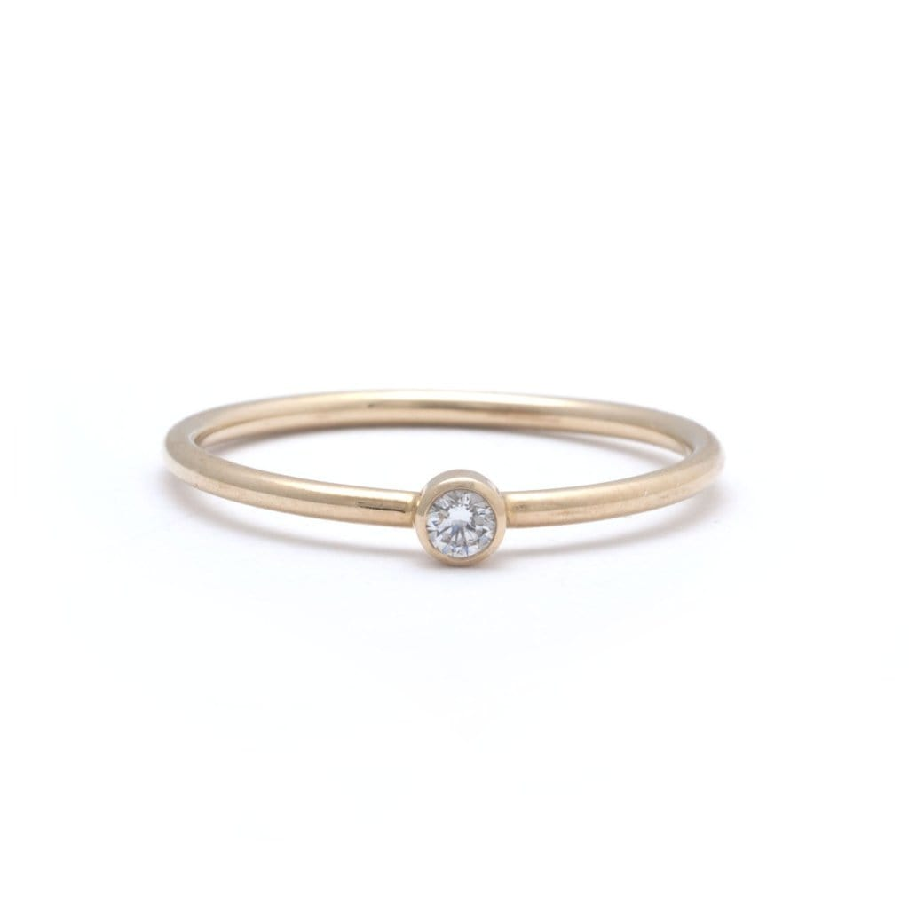 Solitaire Diamond Stackable Ring