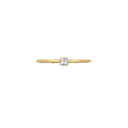 Diamond Square Stacking Ring
