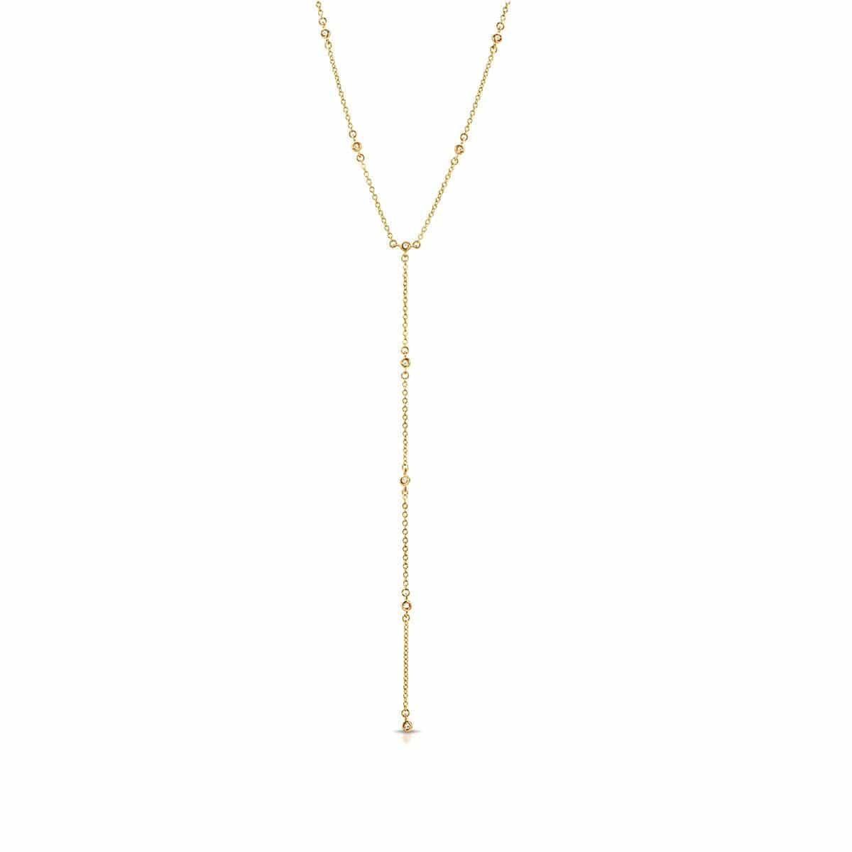 Diamond Gold Lariat Necklace