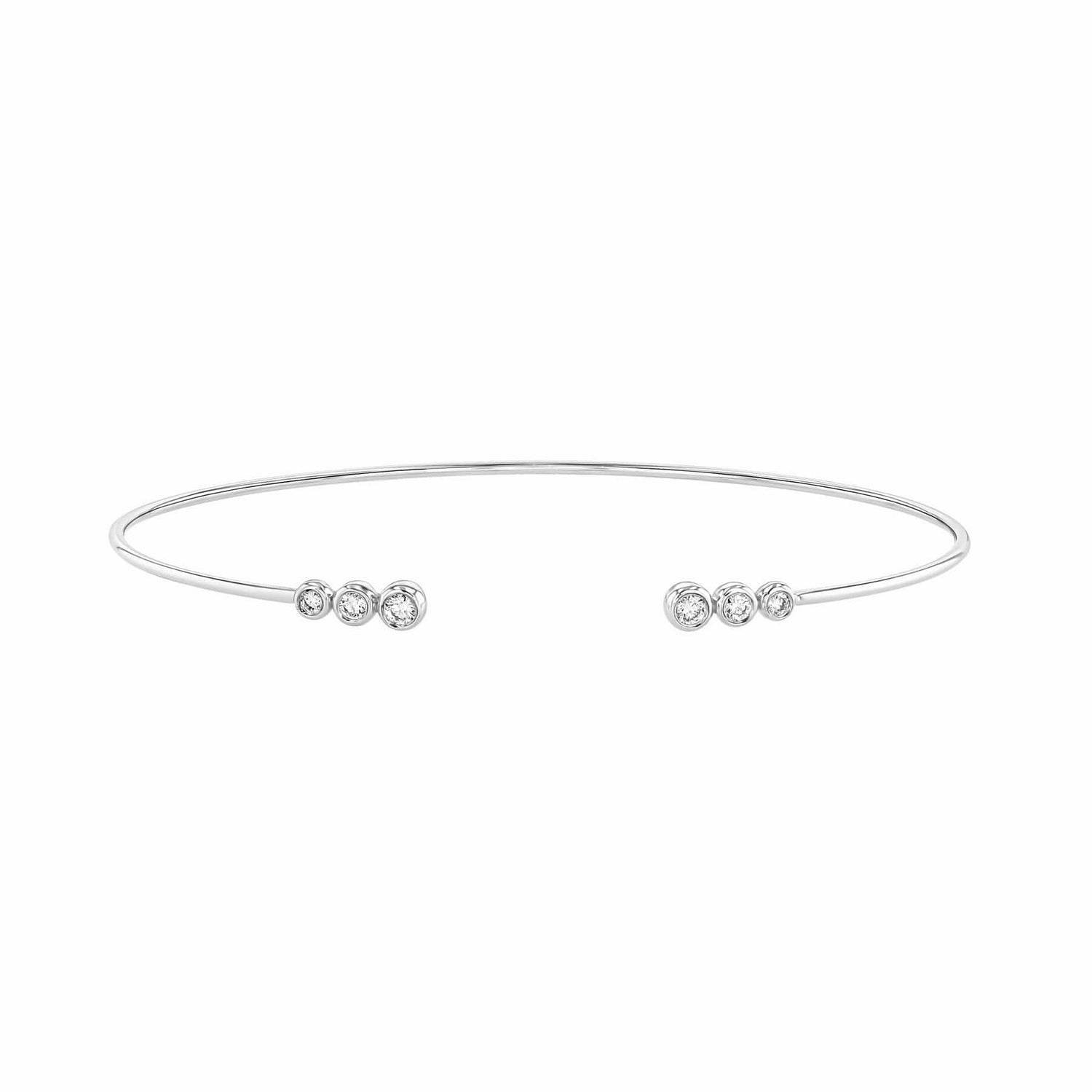 Diamond Wire Cuff Bracelet