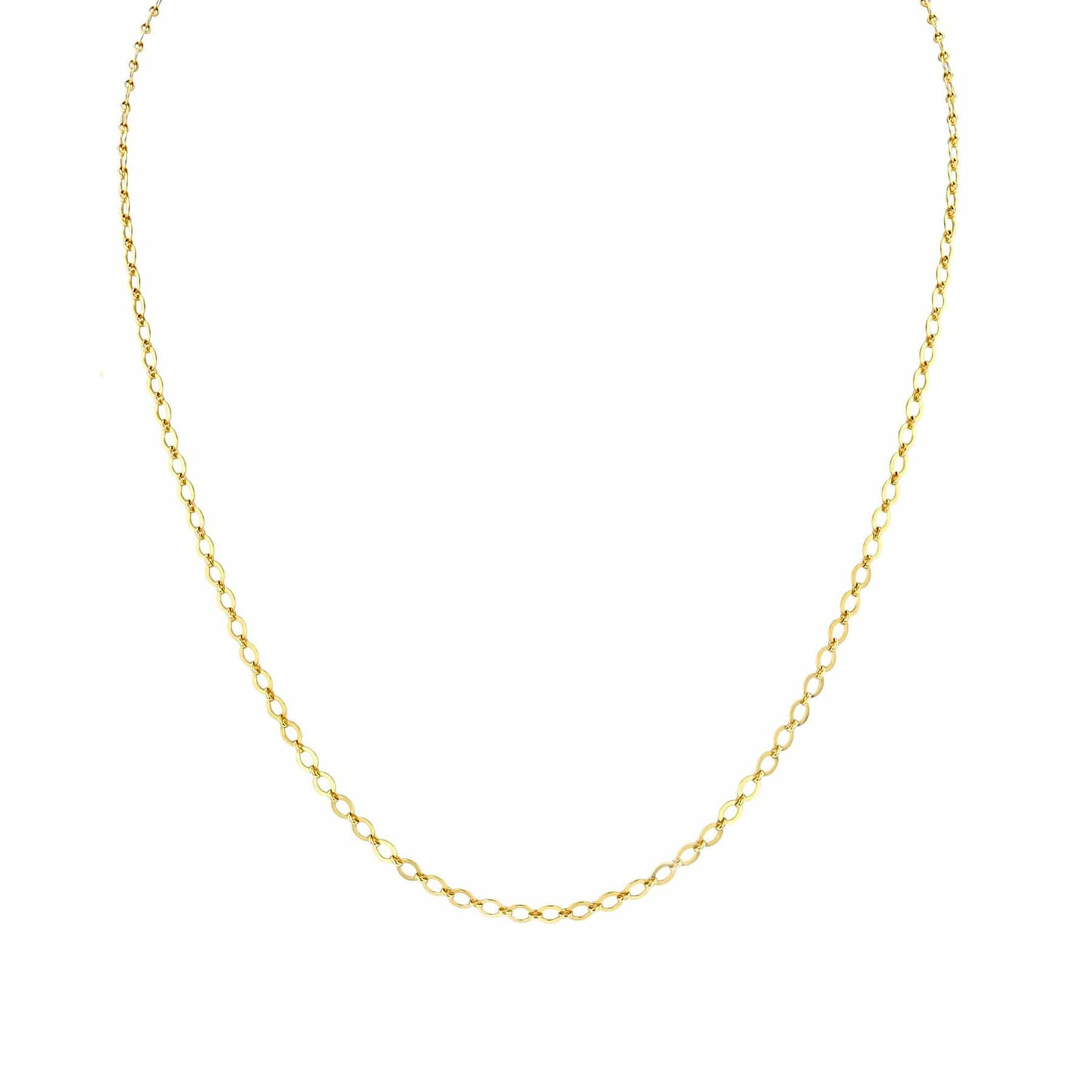 Flat Cable Link Chain Necklace
