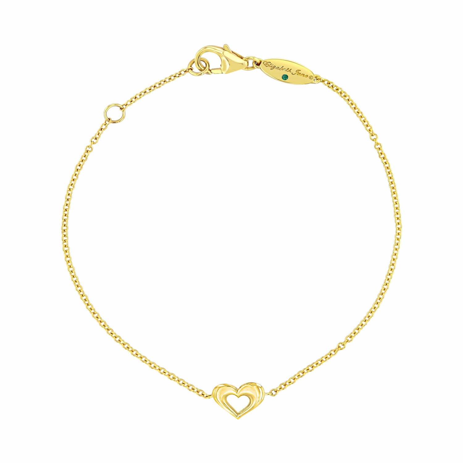 Mini Heart Yellow Gold Bracelet
