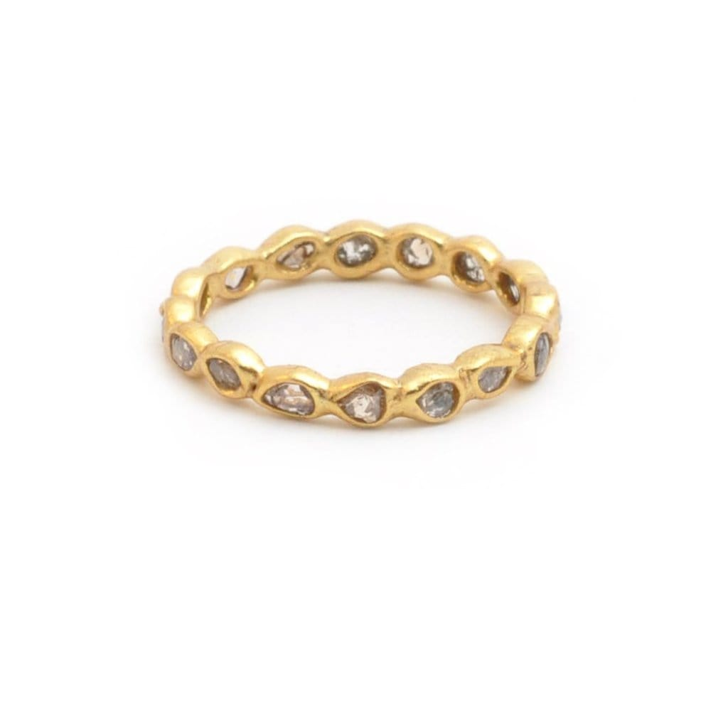 Sliced Diamond Eternity Band