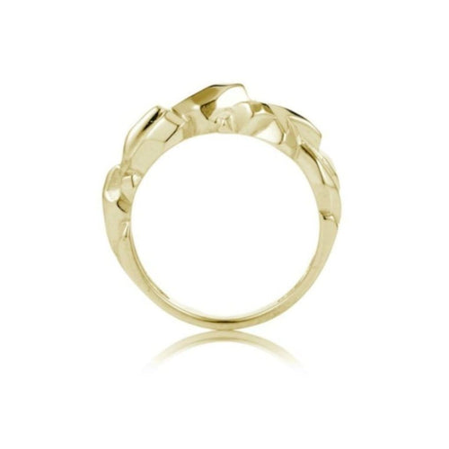 Faceted Yellow Gold Crystal Form Ring - Curated Los Angeles
