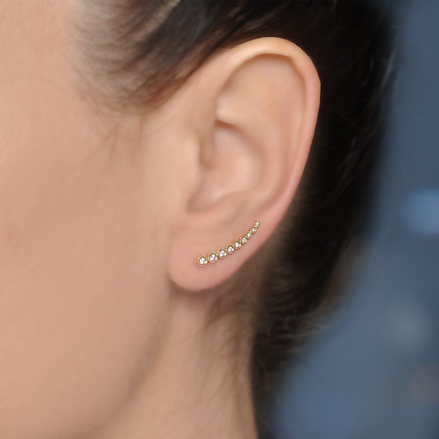 Diamond Ear Crawler Single Earring