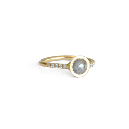 Pave Rose Cut Diamond Ring - Curated Los Angeles