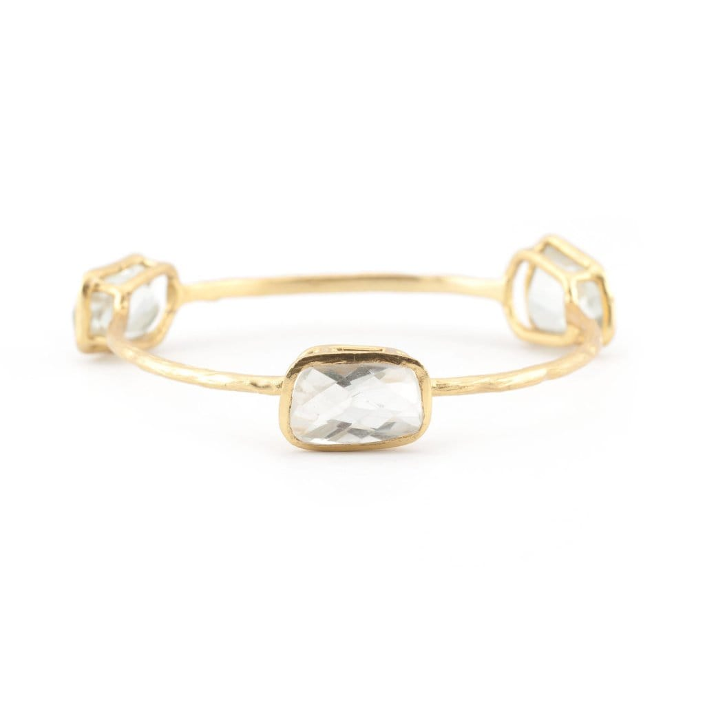 Green Amethyst Chunky Bangle - Curated Los Angeles