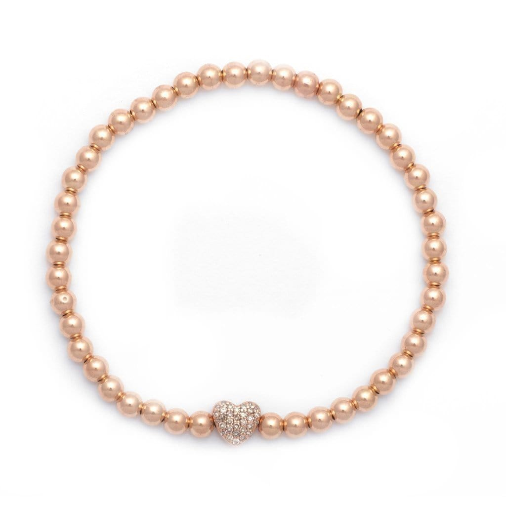 Karen Lazar Diamond Heart Bead Layering Bracelet - Curated Los Angeles