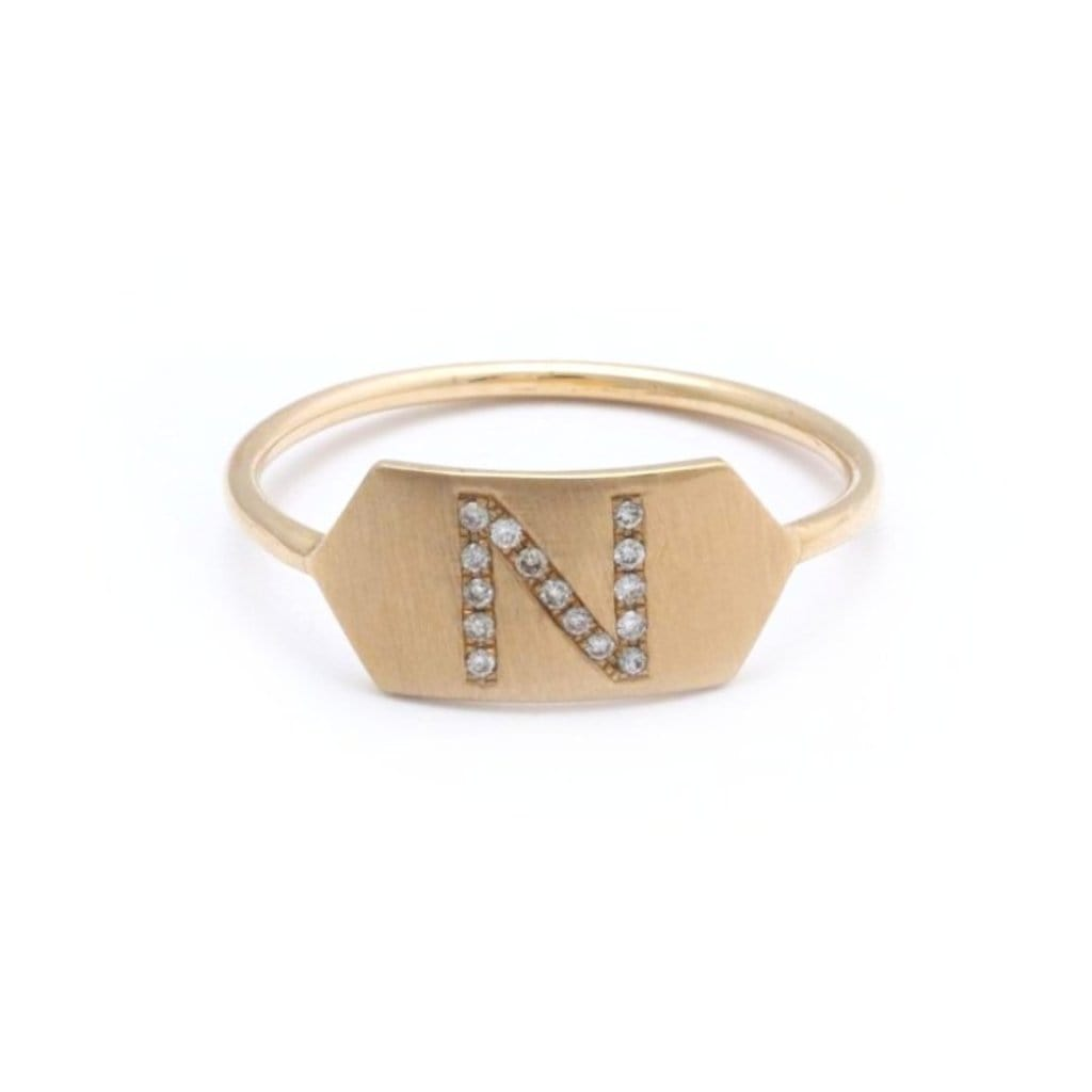 diamond monogram ring
