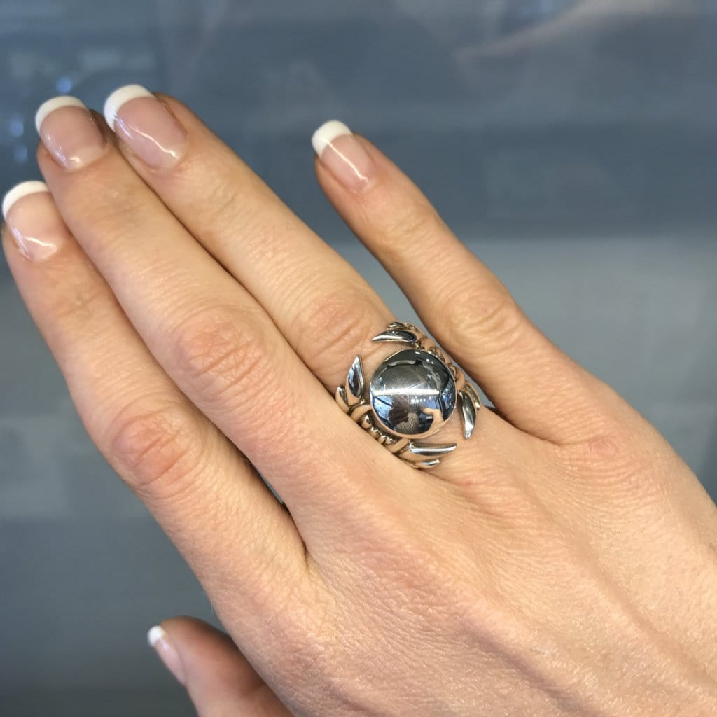 Silver Dome Wing Ring - Curated Los Angeles