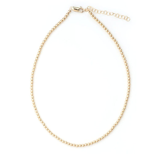 Classic Gold Bead Karen Lazar Necklace - Curated Los Angeles