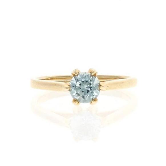 Ice Blue Sapphire Solitaire Ring - Curated Los Angeles