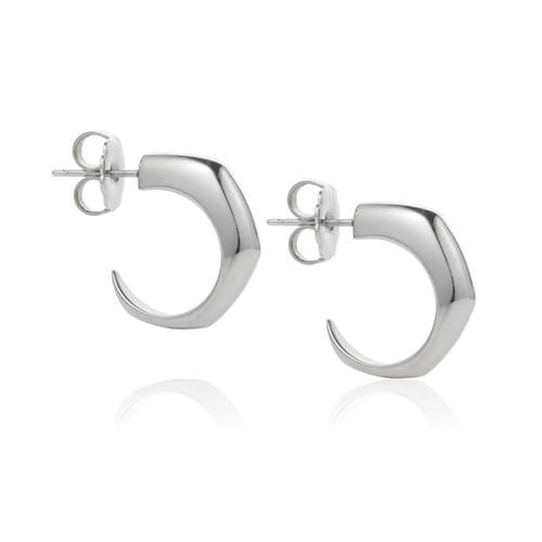 Sterling Silver Talon Hoop Earrings - Curated Los Angeles
