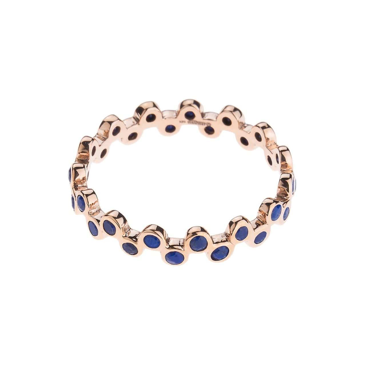Lapis and Gold Eternity Band