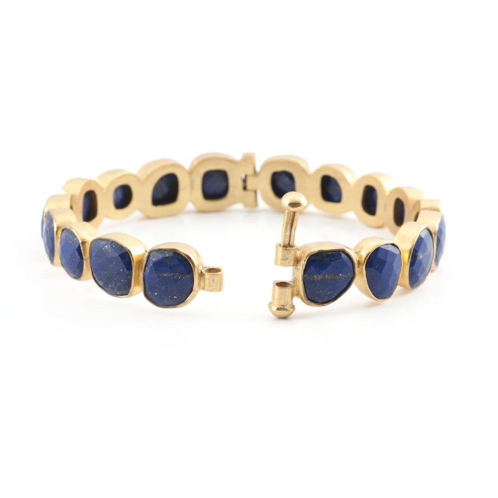 Lapis Lazuli Eternity Bangle - Curated Los Angeles