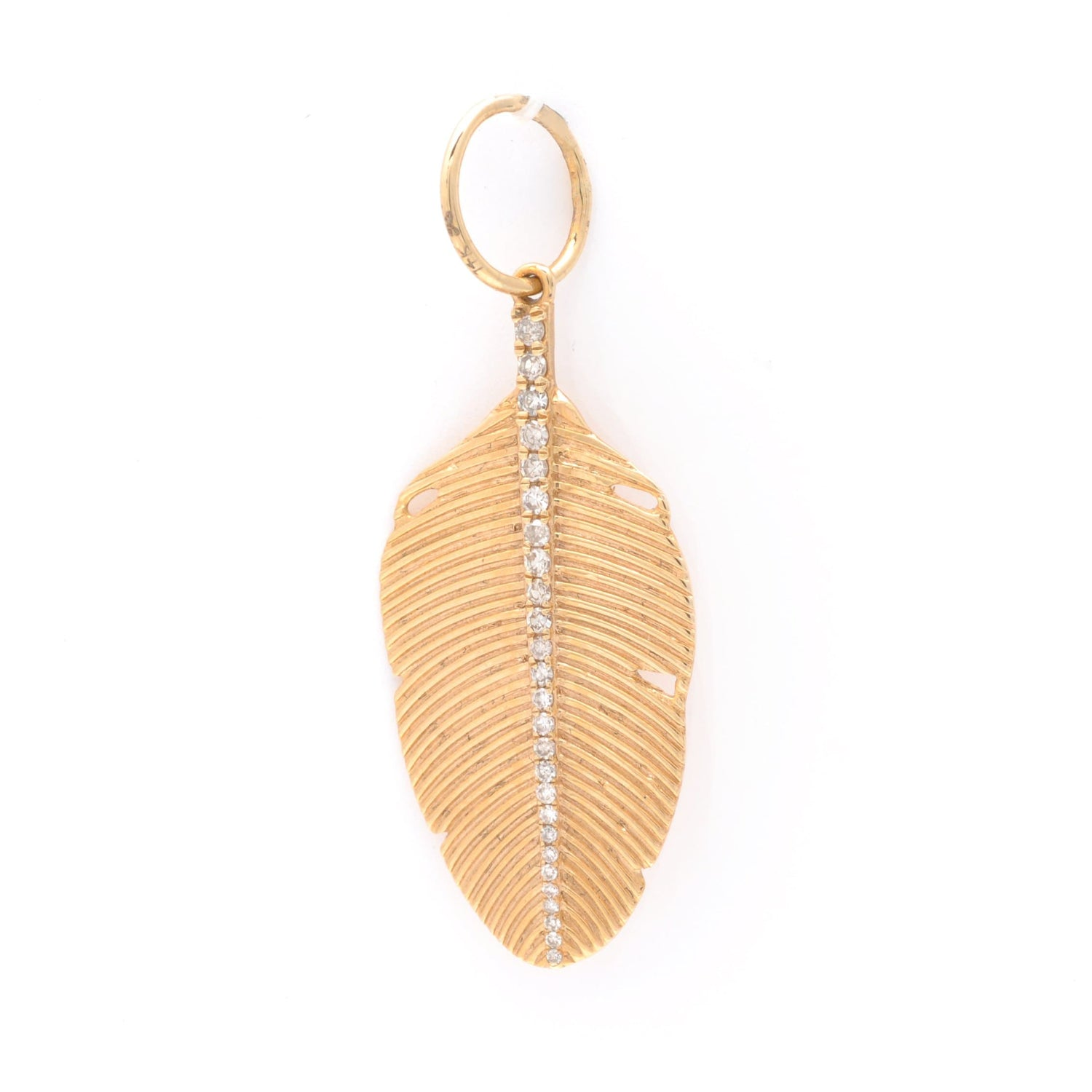Feather and Diamond Pendant