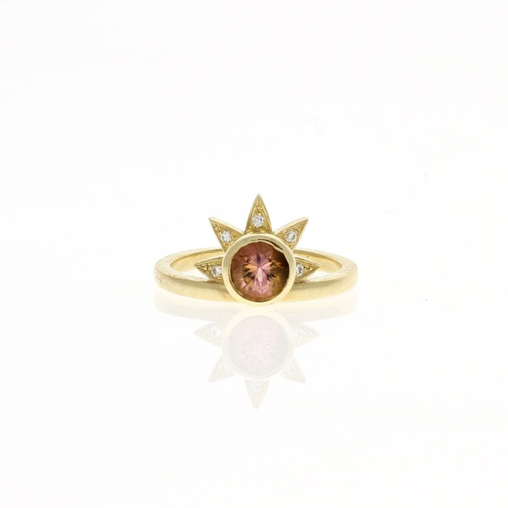 Diamond Tourmaline Small Sunrise Ring