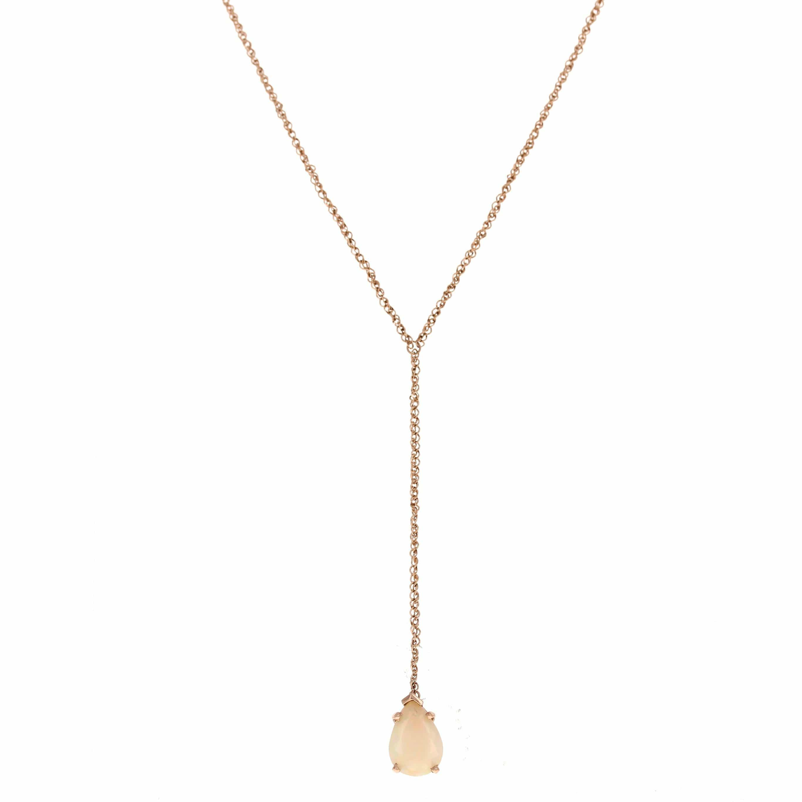 Drop Pendant Teardrop Opal Necklace - Curated Los Angeles
