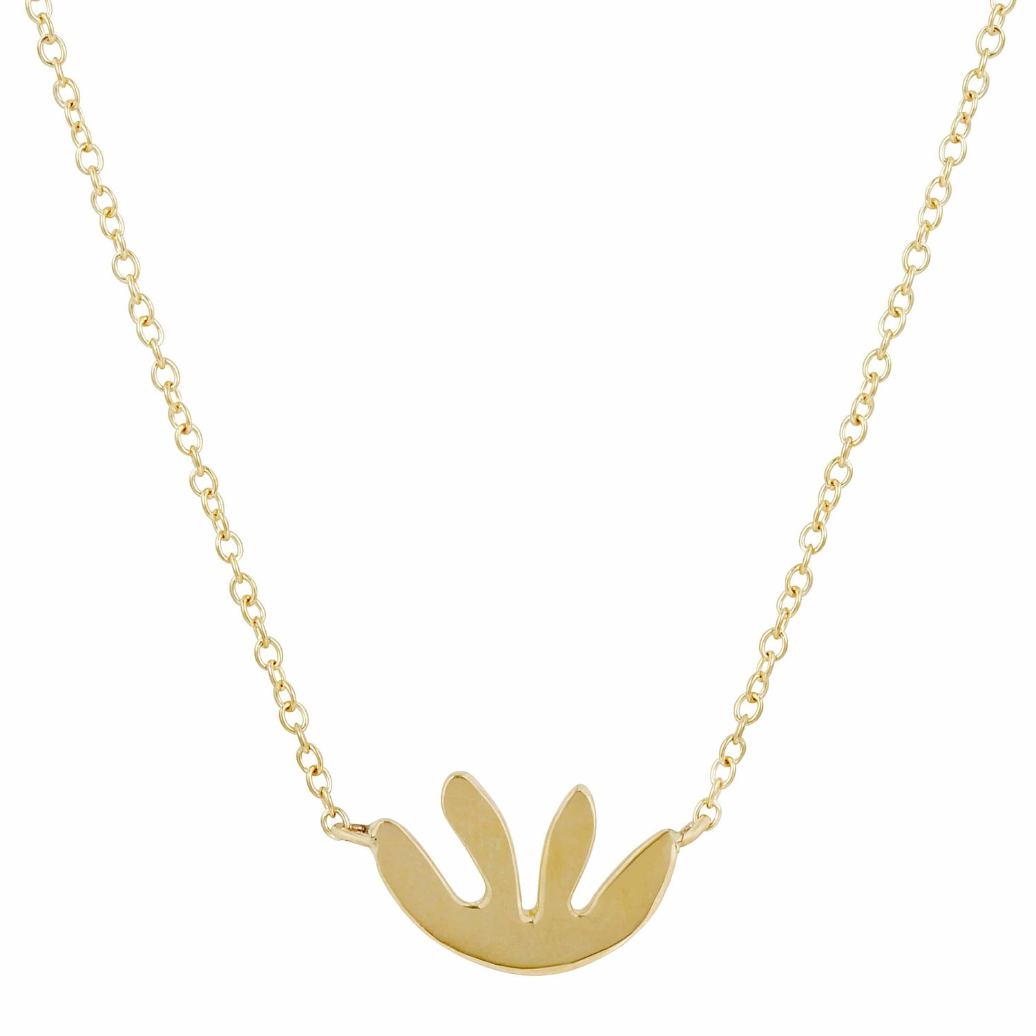 Abstract Kale Yellow Gold Necklace
