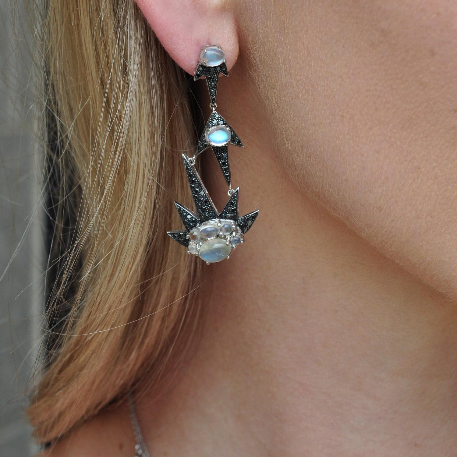 shooting star chanelier earrings