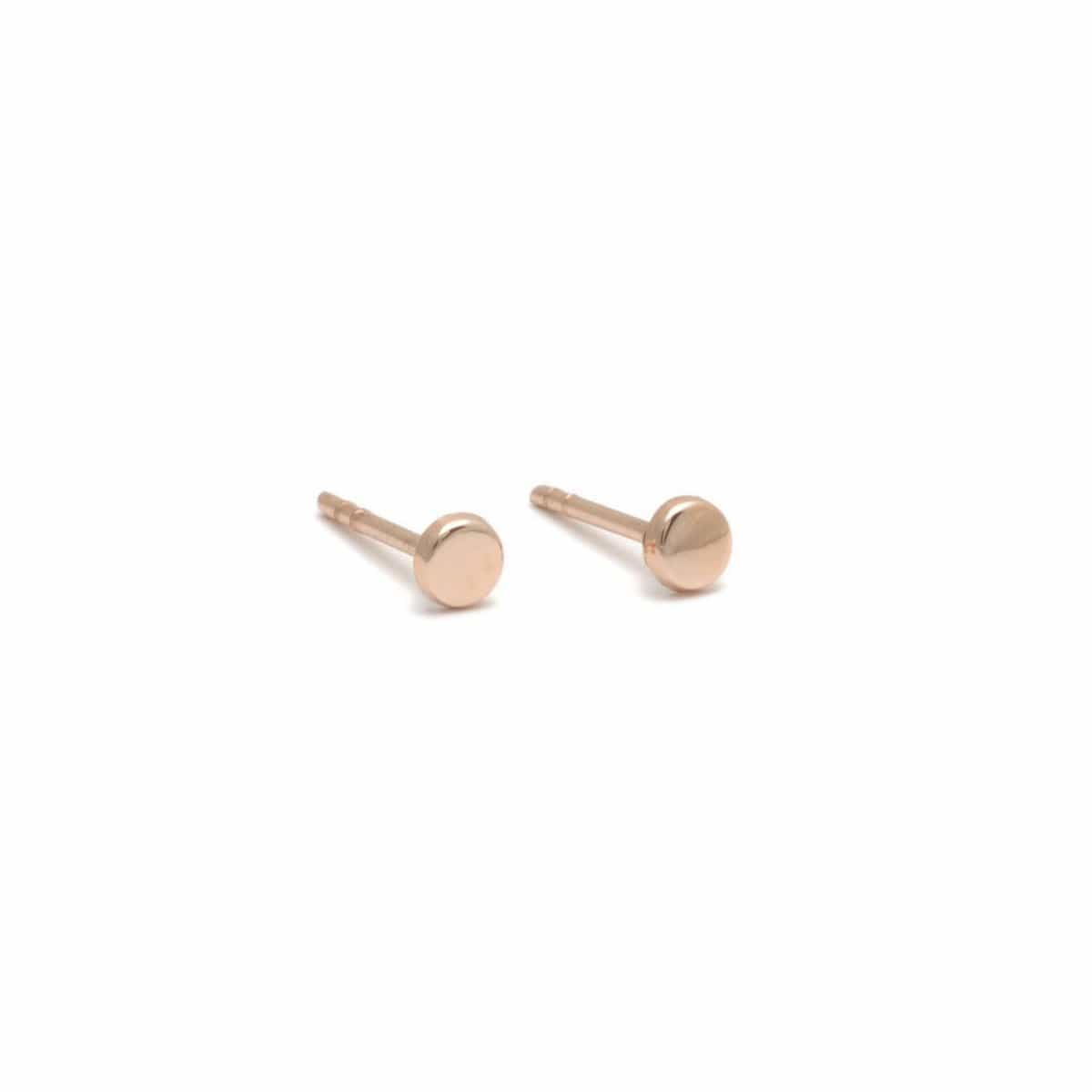 Mini Rose Gold Circle Studs